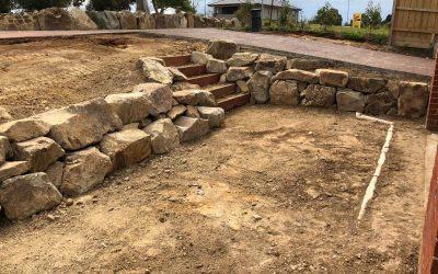 Rock Retaining Walls
