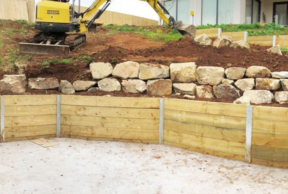 Timber Sleepers Retaining Walls